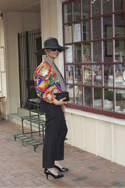 Richard Warren jacket - black Alfani pants - black patent Franco Sparto pumps