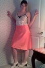 Pink-ralph-lauren-skirt-beige-vintage-shoes-white-vintage-intimate