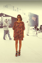 Mango dress - vintage sunglasses - Mango heels