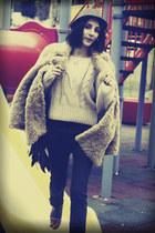 c&a coat - Zara jeans - Zara hat - Zara flats - Bershka jumper