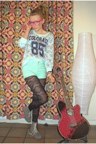 aquamarine Galstar sweater - black GINA TRICOT tights