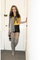 Primark blazer - H&M shorts - ribbcage print Galstar top