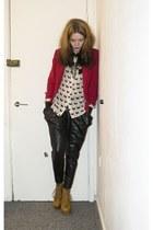 Primark blazer - Bik Bok shirt - harem Galstar pants - gift heels