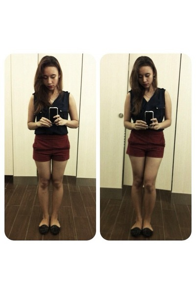 shorts - blouse - Mitju loafers