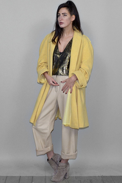 light yellow vintage coat