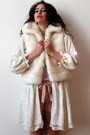 White-faux-fur-gilet-vintage-vest-off-white-almost-famous-jacket