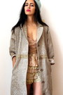 Light-brown-vintage-coat-beige-lace-scalloped-vintage-shorts