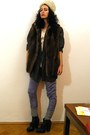 Ivory-curly-lamb-fur-vintage-hat-dark-gray-chunky-heeled-asos-boots