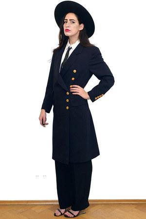 navy Vintage Joop coat
