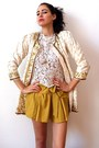 Mustard-wholesale-shorts-cream-vintage-from-ebay-jacket