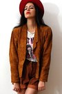 Red-vintage-hat-tawny-vintage-jacket-cream-paper-thin-vintage-shirt