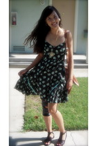 free people dress - Marshalls shoes - vintage accessories