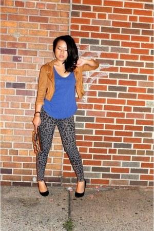 leopard print GapKids leggings - American Rag jacket - Gap shirt