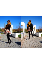 Zara boots - Zara jacket - Zara scarf - Bershka skirt