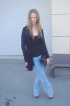 Zara sweater - Topshop shirt - D&G jeans - Zara shoes - Incity purse