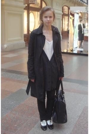 calvin klein coat - Newlook sweater - Zara shirt - Zara pants - Incity wallet -