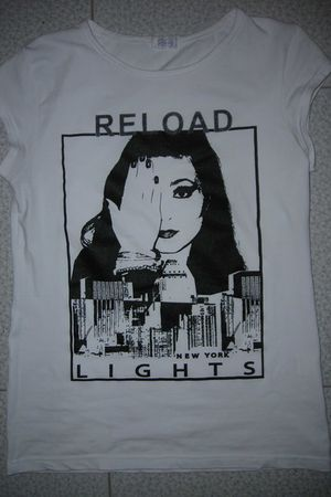 white Reload t-shirt