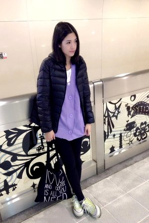 black OrangeBear coat - chartreuse Converse shoes - black Forever 21 bag