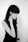 Black-leather-wedges-red-earrings