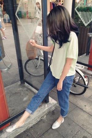 lime green Zara t-shirt