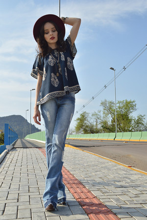 Leposê top - denim Gdoky pants