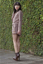 MondaBelle jacket - heels Parô boots - MondaBelle shorts