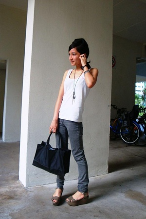 blazer - abercrombie and fitch t-shirt - Cheap Monday jeans - Charles & Keith sh