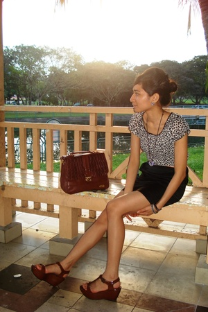 blouse - Bugis Village skirt - VintageHand-me-downs purse - Charles & Keith shoe