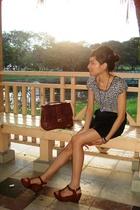 blouse - Bugis Village skirt - VintageHand-me-downs purse - Charles & Keith shoe
