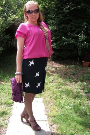 Jewel City bag - DIY skirt - Be Beau Matalan top