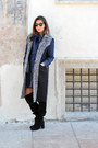 Dark-gray-alysi-coat-navy-blugirl-folies-shirt