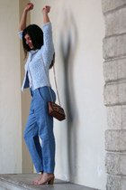 sky blue Anneclaire jacket - tawny Ghibli bag - sky blue Hache pants