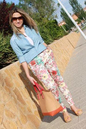 BLANCO pants - Stradivarius shirt - Zara bag - Ray Ban sunglasses