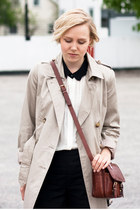 GINA TRICOT coat - Secondhand bag - Zara blouse