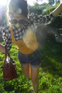 Brown-leather-the-bridge-bag-blue-jean-shorts-levis-shorts