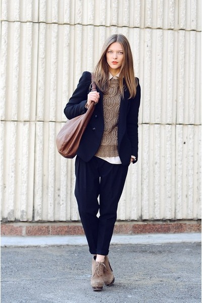black Zara blazer - black Zara pants