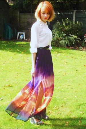 Primark skirt - Primark shirt - Topshop wedges