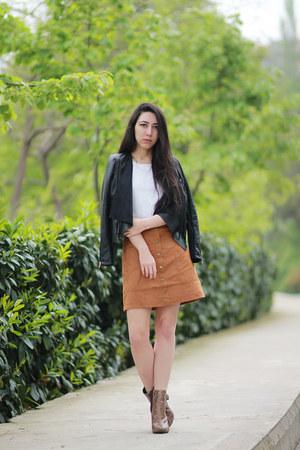 London Rebel boots - River Island jacket - H&M skirt