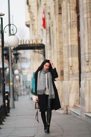 Mango coat - Zara boots - Mango scarf