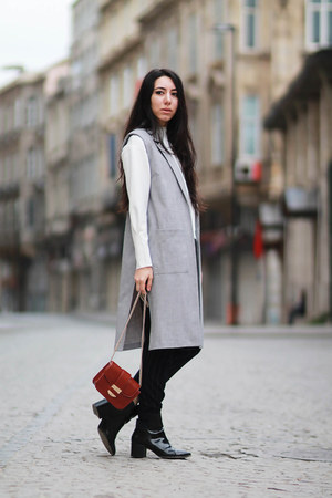 Zara sweater - Mango pants - Forever 21 vest