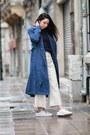 Navy-sheinside-coat-adidas-sneakers-zara-pants