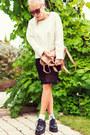 White-chunky-zara-sweater-nude-fine-knitt-mtwtfss-weekday-shirt