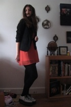 blazer - Forever21 dress - Anarchy shoes