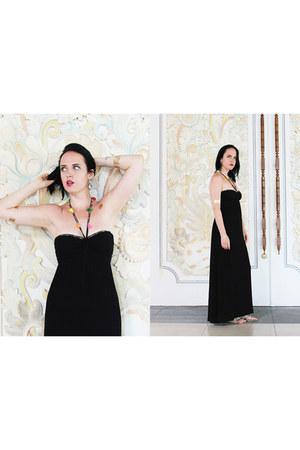black no brand dress - gold Goddess Tattoos accessories