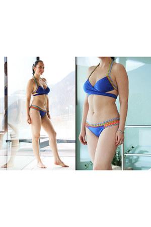 blue Black Star Style Bikini swimwear