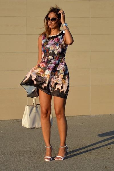 Prada bag - jolie moi dress - christian dior sunglasses - Zara heels