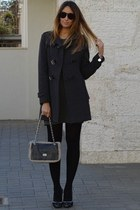 black Pomikaki bag - dark gray Zara dress - gray Rinascimento coat