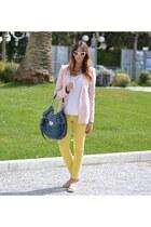 Zara blazer - Miu Miu bag - Zara sunglasses - Mango pants