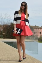 red Rinascimento dress - Rinascimento jacket - Rinascimento bag