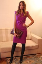 black Stella McCartney boots - amethyst pencil dress Intrend dress